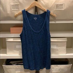 Blue Vintage Cotton Tank Top